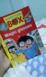 Magic glasses book (one page torn )