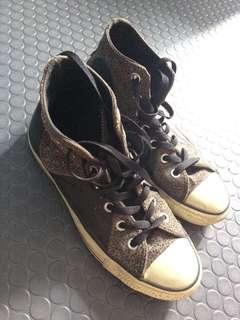 Converse All Star Chucks HI Multipanel Leather Studs Black