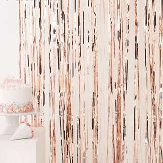 Rose Gold Party Curtains