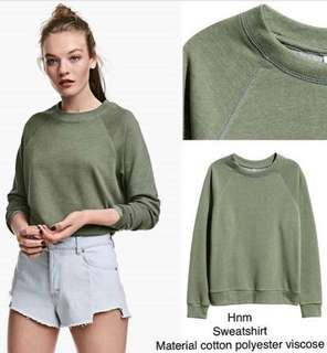 H&M sweatshirt (army green)