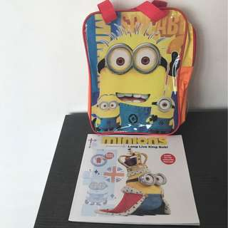 <Bundle Deal> Minions Long Live King Bob Storybook & Handcarry Bag