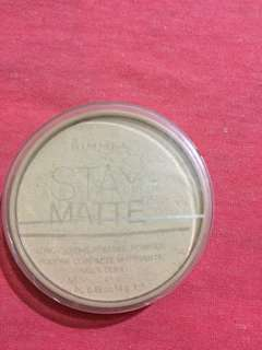 Rimmel stay matte shade transparant