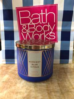 Bath and Body Works 3-wick Candle - Midnight Blue Citrus 香薰蠟燭 BBW