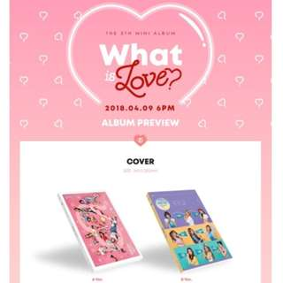 [PO SET] Twice - What Is Love (both versions + 2 posters) + pre-benefits