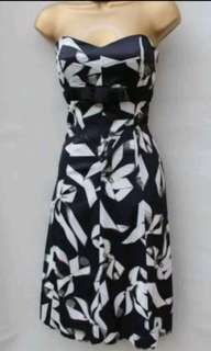KAREN MILLEN ribbon print cocktail dress - Sz 6