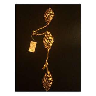 Pernanakan Nonya real African diamond kerosang set in 20k yellow gold.