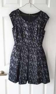 A|X Armani Exchange Jacquard Dress - Sz 2