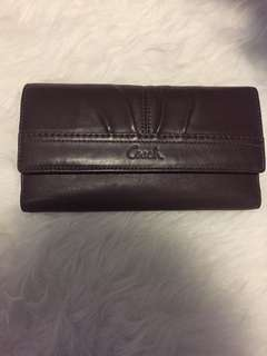 COACH brown leather wallet - authentic