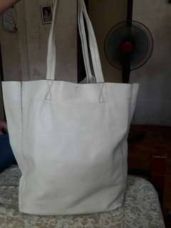 Vera Pelle Made in Italy Genuine Leather Large Tote Bag
