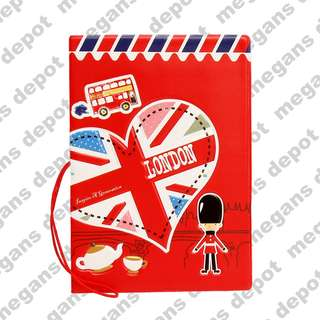 London Red 3D Passport Holder