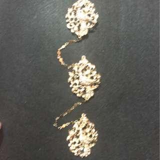 Peranakan Nonya costume jewellery Peacock faux diamond kerosang/keronsang