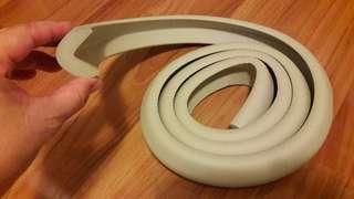Lshape wall edges bumper strips (2metres)
