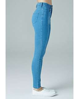 F21 high waisted stretchy denim jeans
