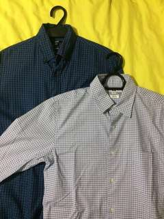 UNIQLO Long Sleeves (Light Blue and Dark Blue)
