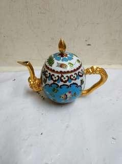 景泰藍茶壺
