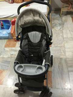 Chicco 4-wheel stroller and umbrella stroller
