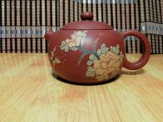 宜興紫砂壺  -  花蝶西施   國家級高級工藝美術師    徐小平