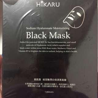 🚚 HIKARU 黑面膜 蘆薈 薏仁 7片$100 21片$250