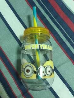 Minion water bottle from universal studios