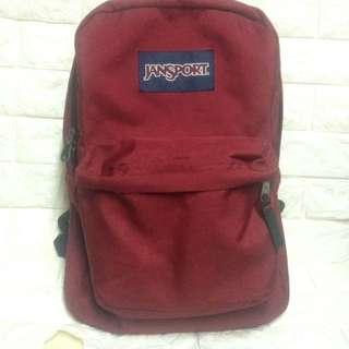 Authentic Jansport Bag Maroon