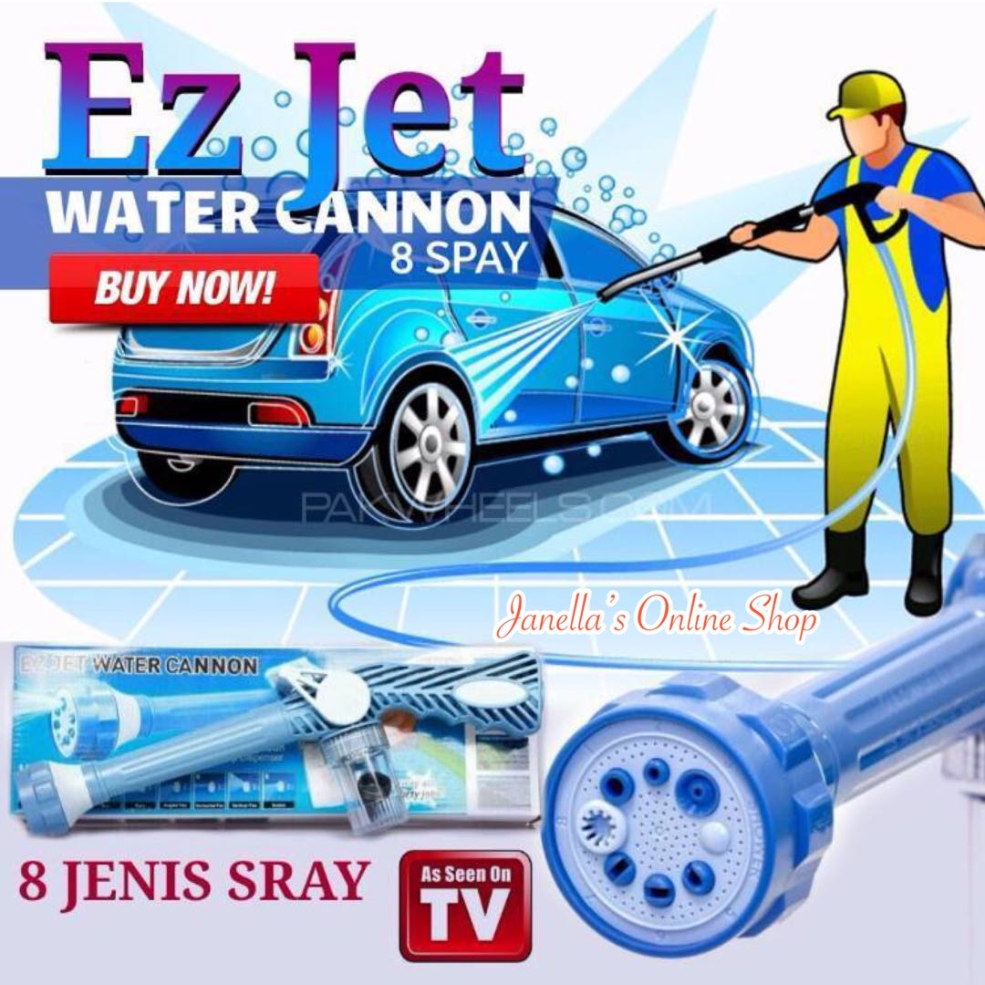 8 In 1 Ez Jet Water Cannon Multi Function Spray Gun Home Furniture On Carousell