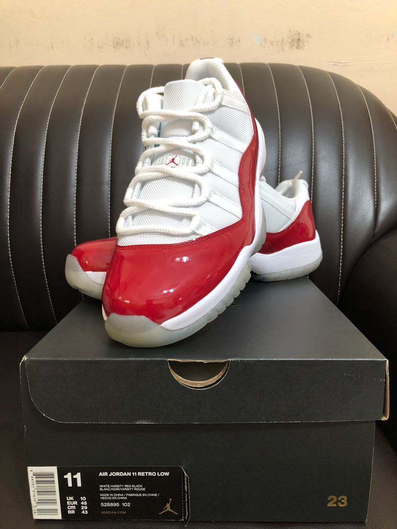 official photos 7bc9f d17f4 Air Jordan Retro 11 Low Cherry, Men s Fashion, Footwear, Sneakers on ...