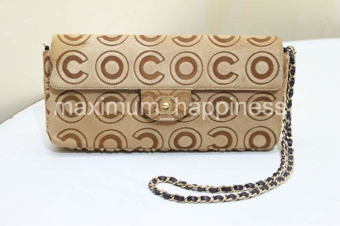afd2d75f61cf AUTHENTIC CHANEL COCO EAST-WEST PONY HAIR CLASSIC FLAP BAG   CLUTCH ...