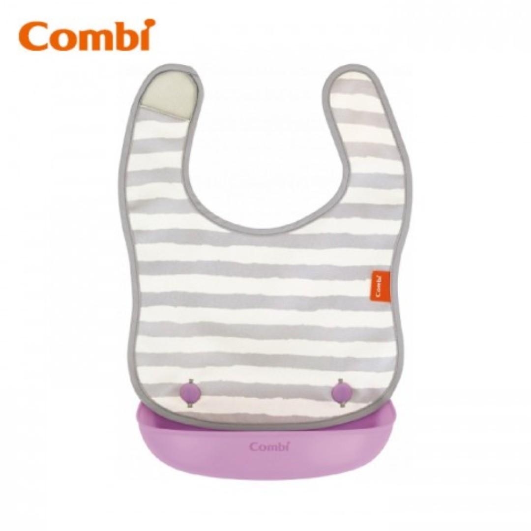 Blove 日本 Combi 嬰兒Bib 嬰兒圍嘴圍咀 防跌飯防水飯兜 BB口水巾軟膠口水肩 防油污圍兜 #CB03E