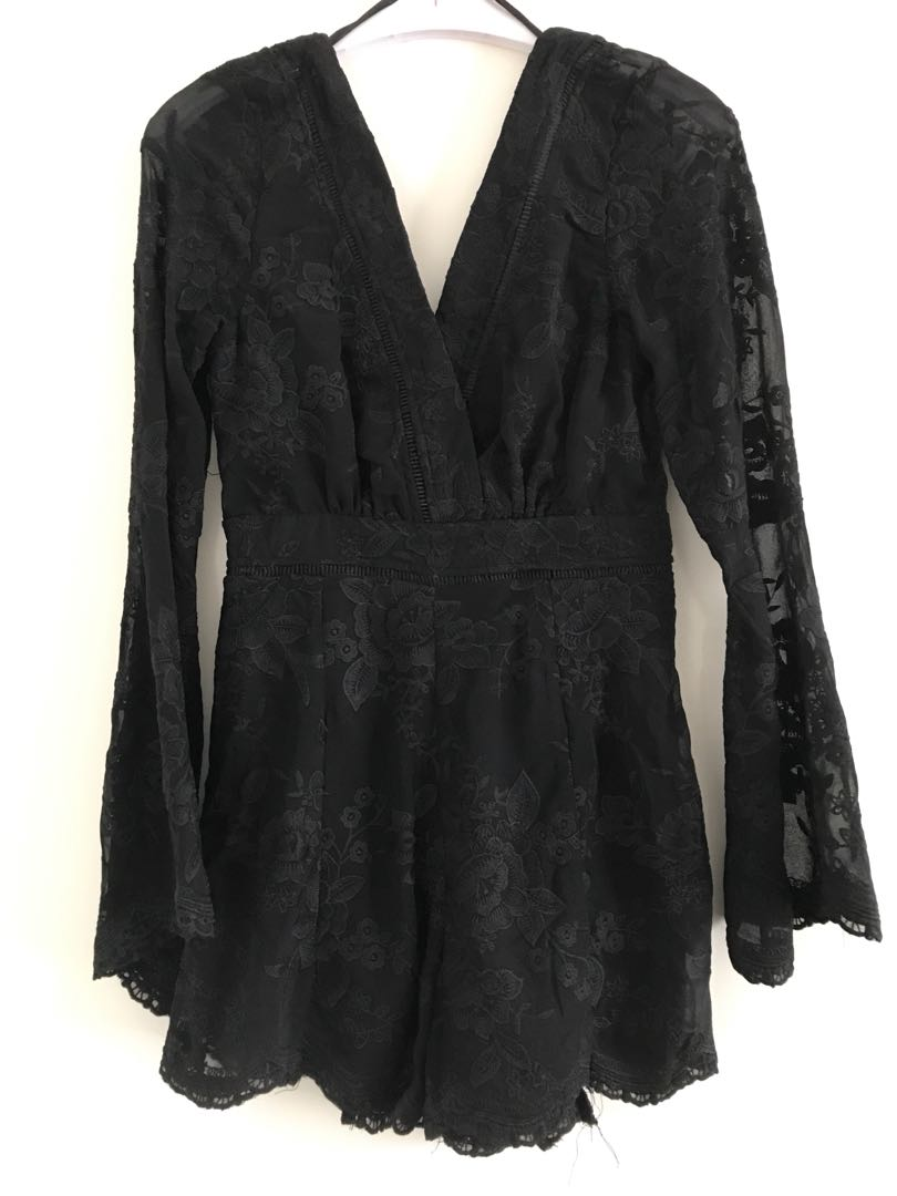 BNWT Black Playsuit