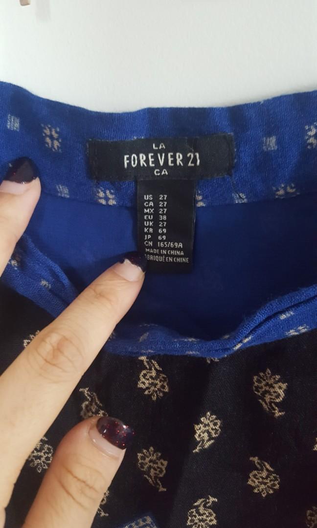 Boho print forever 21 skirt