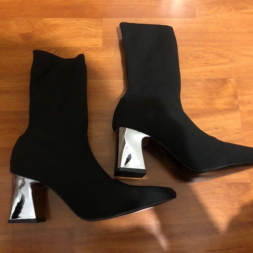 Brand New Black Sock boots
