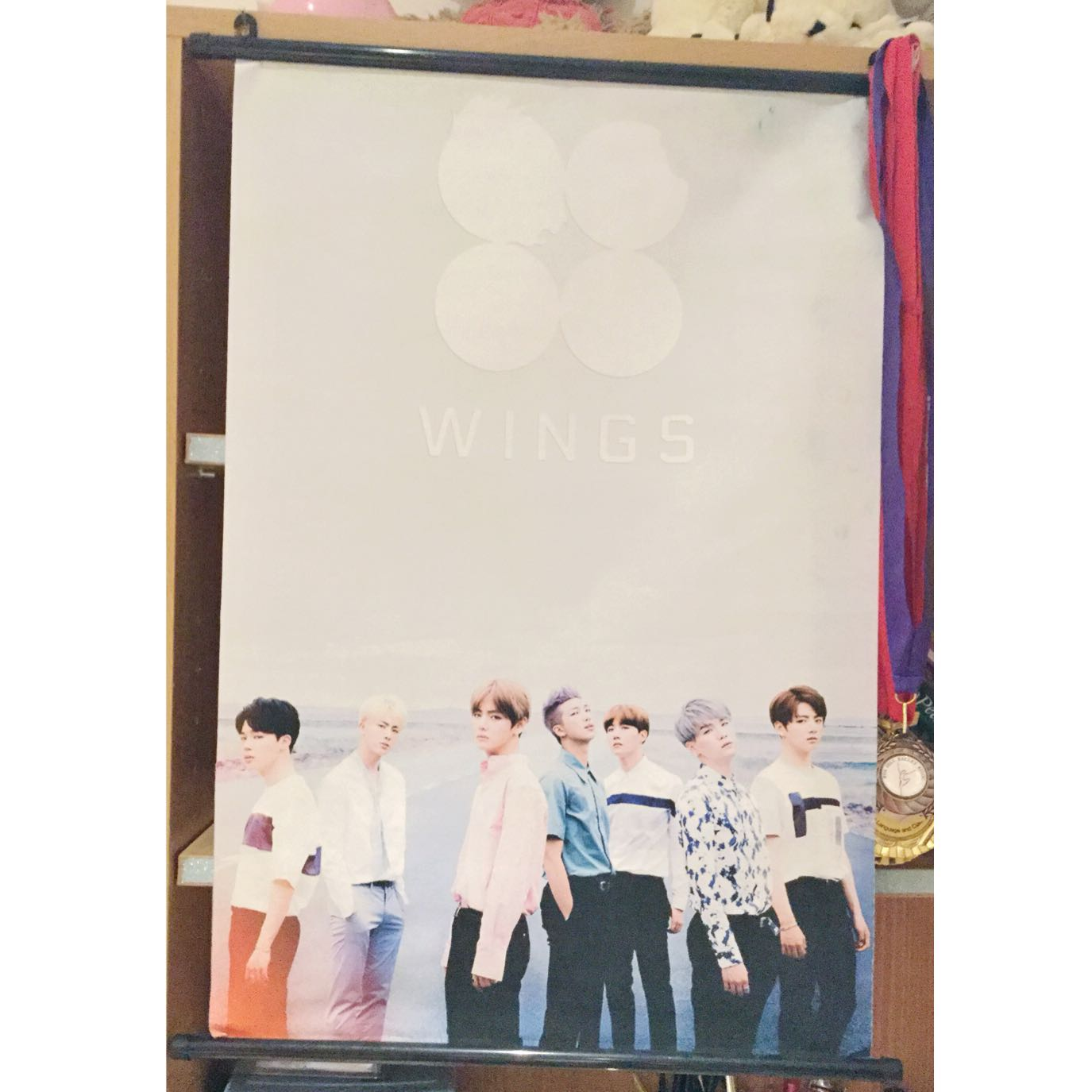 BTS wings hang up poster