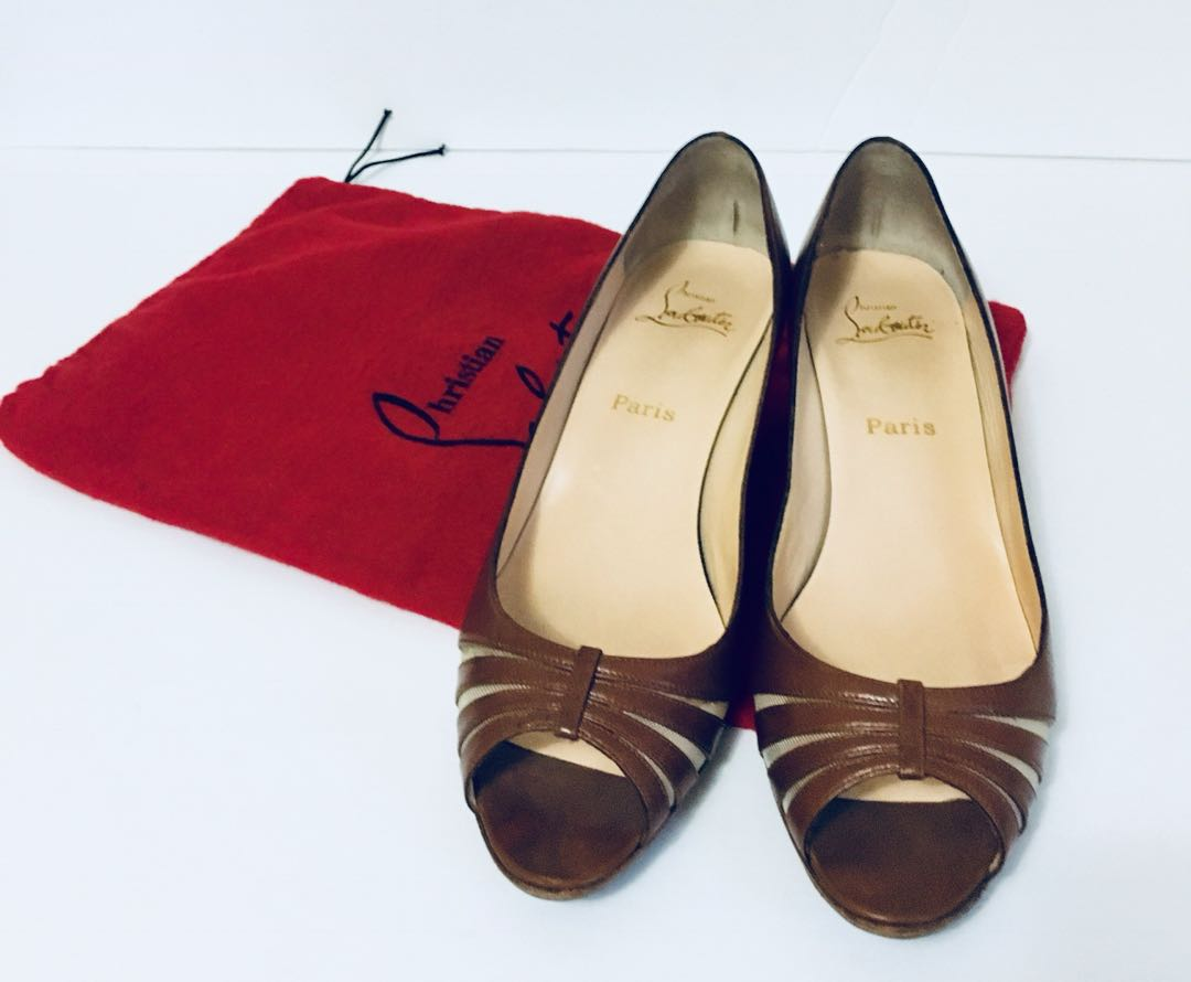 Christian Louboutin brown sandals size 40.5