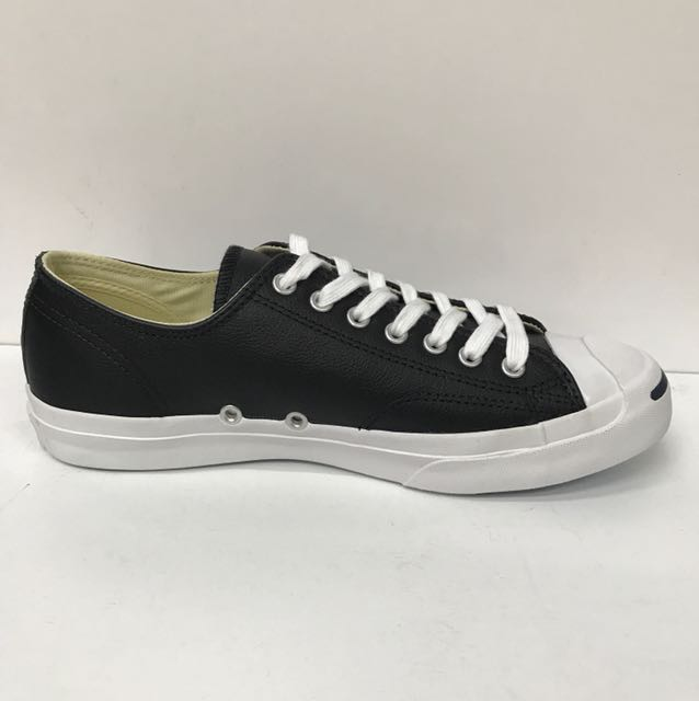 76561b00e405 CONVERSE JACK PURCELL LEATHER OX BLACK WHITE