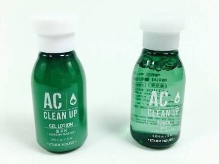 ... ETUDE HOUSE AC CLEAN UP TONER 15 ML GEL LOTION 15 ML 2PCS &check
