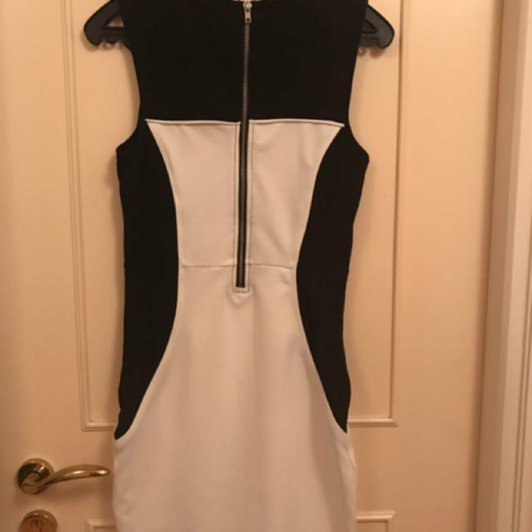 Formal Black And White Dress (size XS)