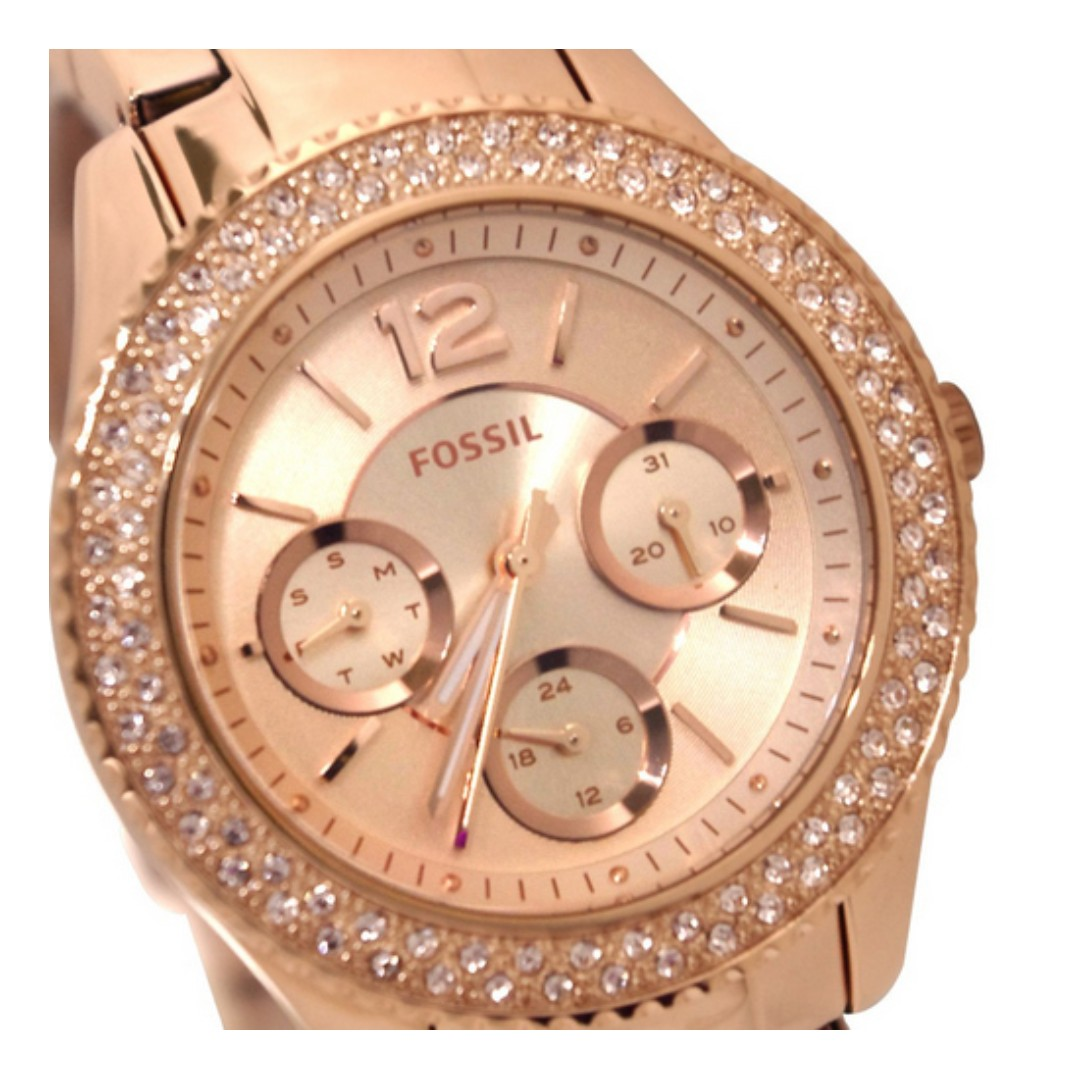 Fossil Original Womens Es3590 Stella Rose Gold Tone Multifunction Stainless Steel Watch Fashion Watches On Carousell