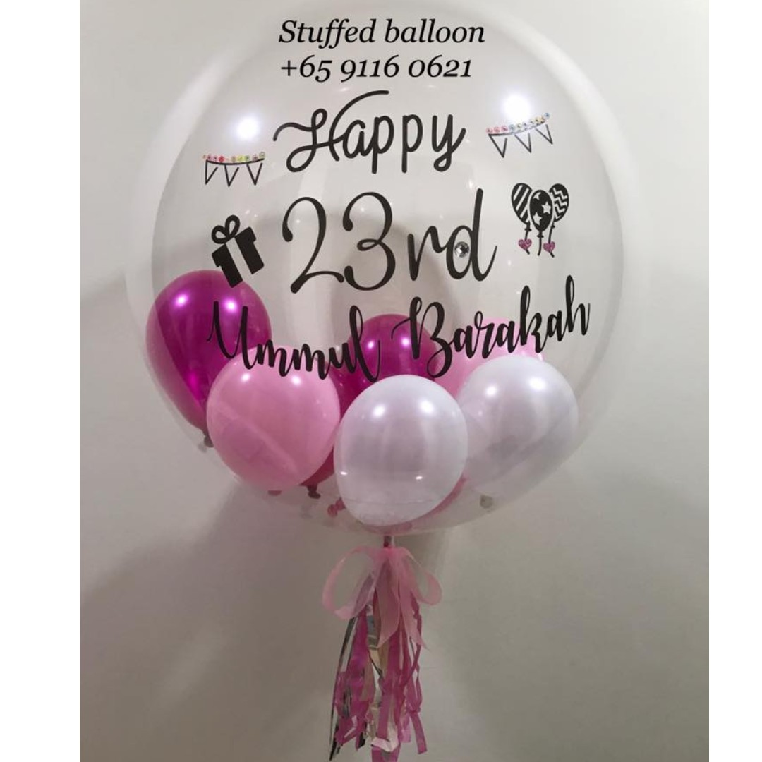 Happy Birthday Balloon Bubble Customized