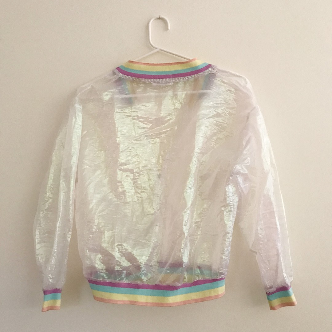 Holographic/ Iridescent semi-transparent jacket