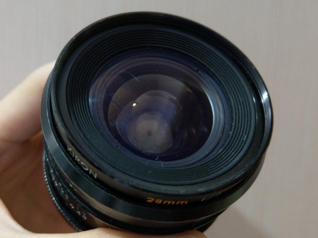 Kiron 28mm f/2 0 (declicked aperture)