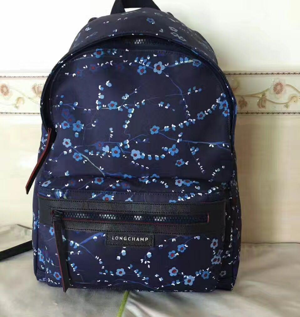 Longchamp 1119 medium 40cm 30cm Sakura navy blue 23ac662d08ec0