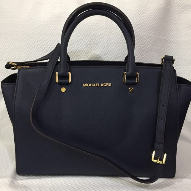 "44b797f9f12c8 ... Michael Kors ""SELMA"" Large Saffiano Leather Satchel"