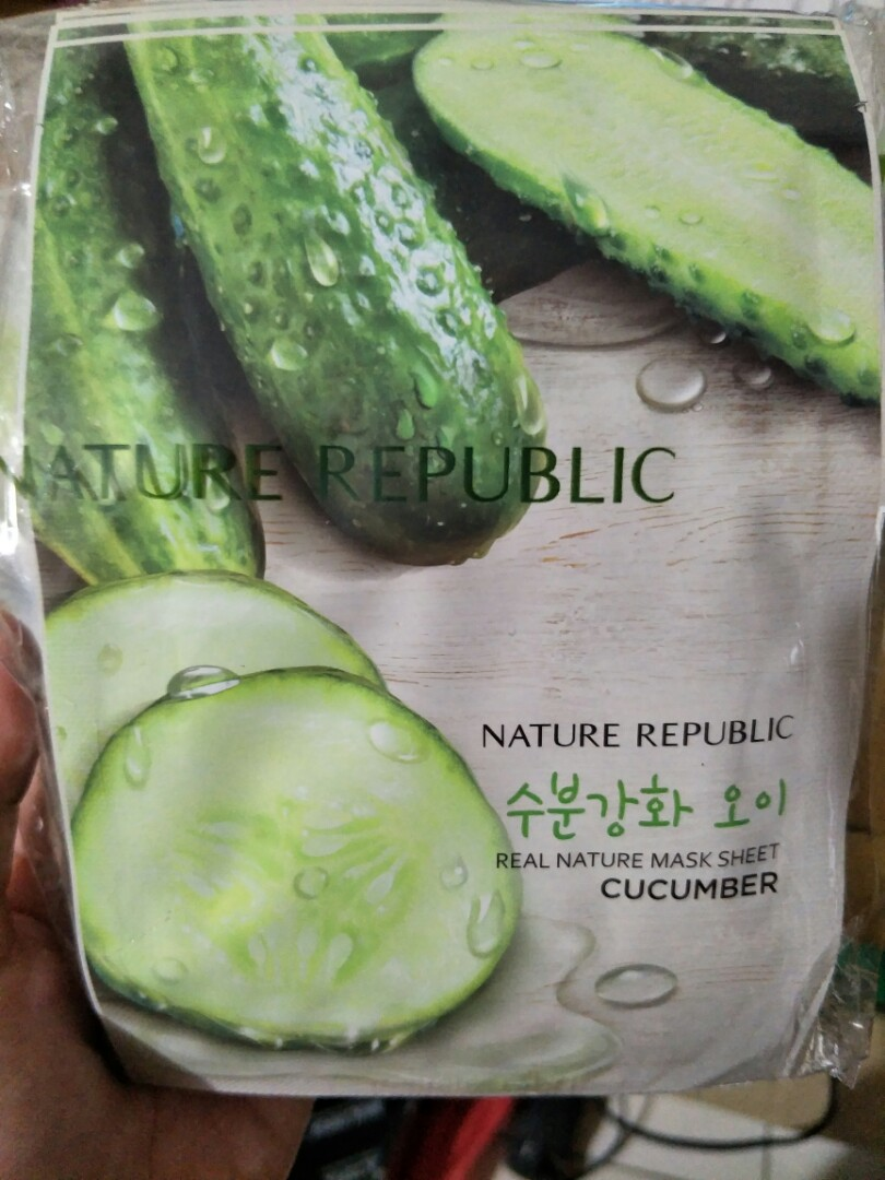 Nature Republic Cucumber Real Nature Mask sheet -10pcs, Health & Beauty, Makeup on Carousell