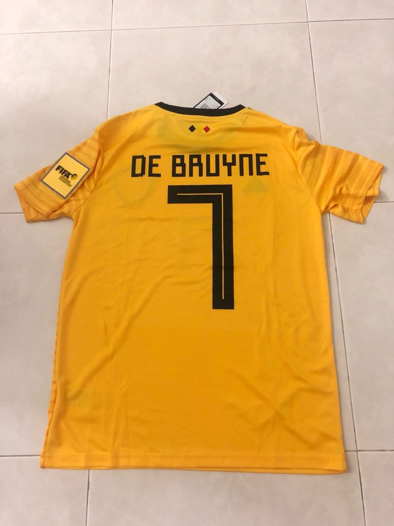 new product 481fe 0d420 New 2018 Belgium World Cup Away Jersey M Size De Bruyne 7 ...