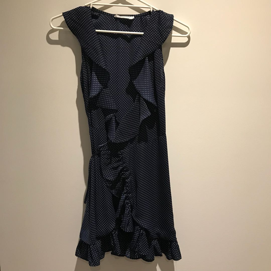 Polka dot cross over dress