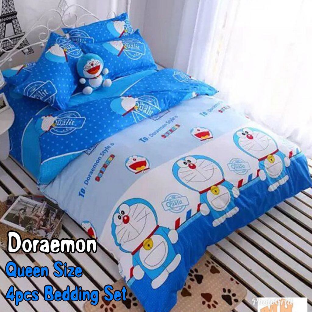 Queen Fitted Bedsheet (4pcs)