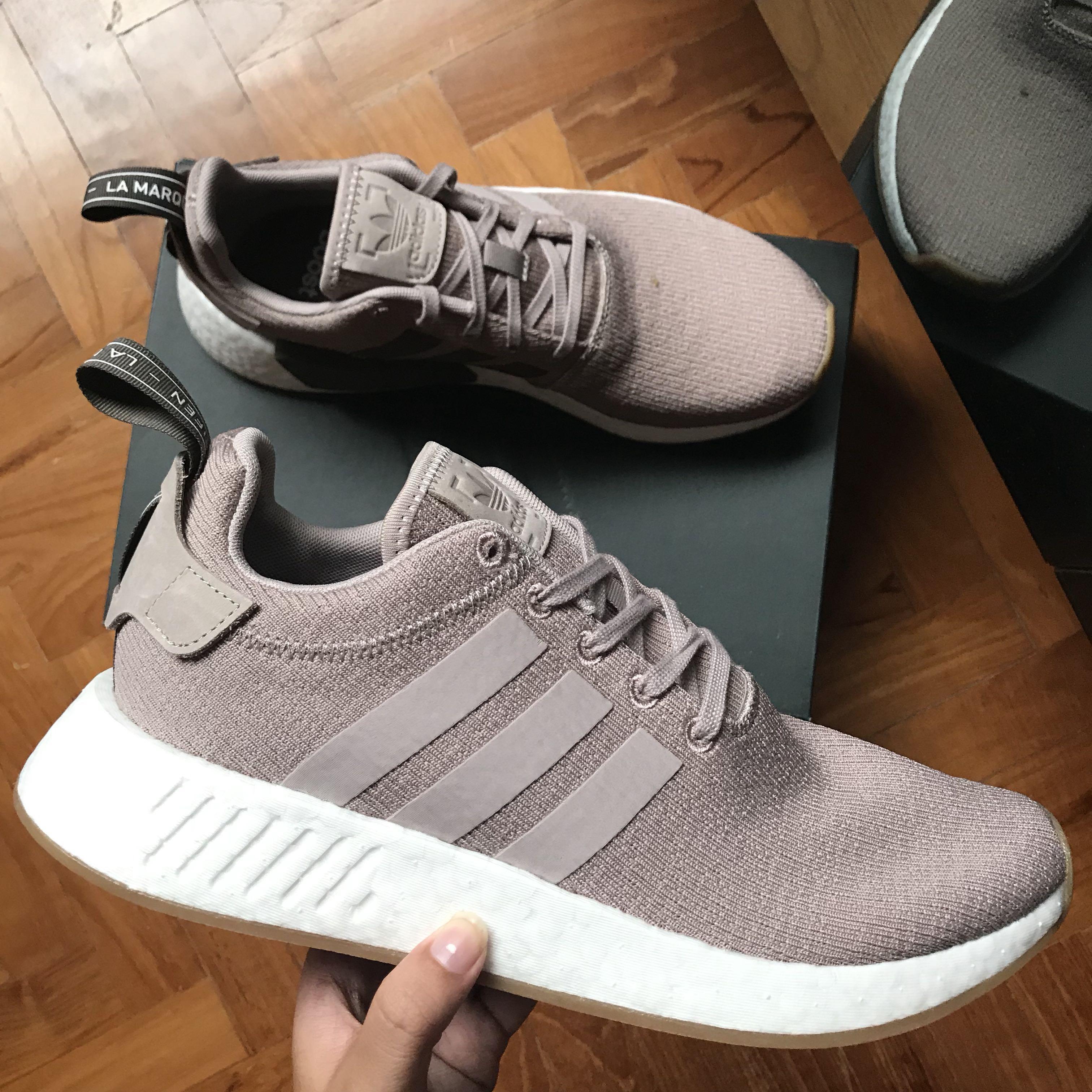 e85848ab3b4d8 under retail!) Adidas NMD R2 Grey Beige Brown