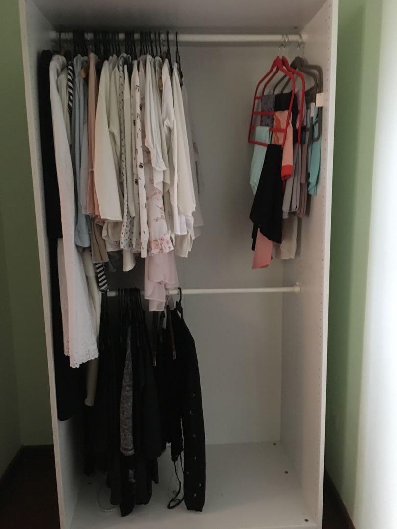 Wardrobe rak baju ikea custom made