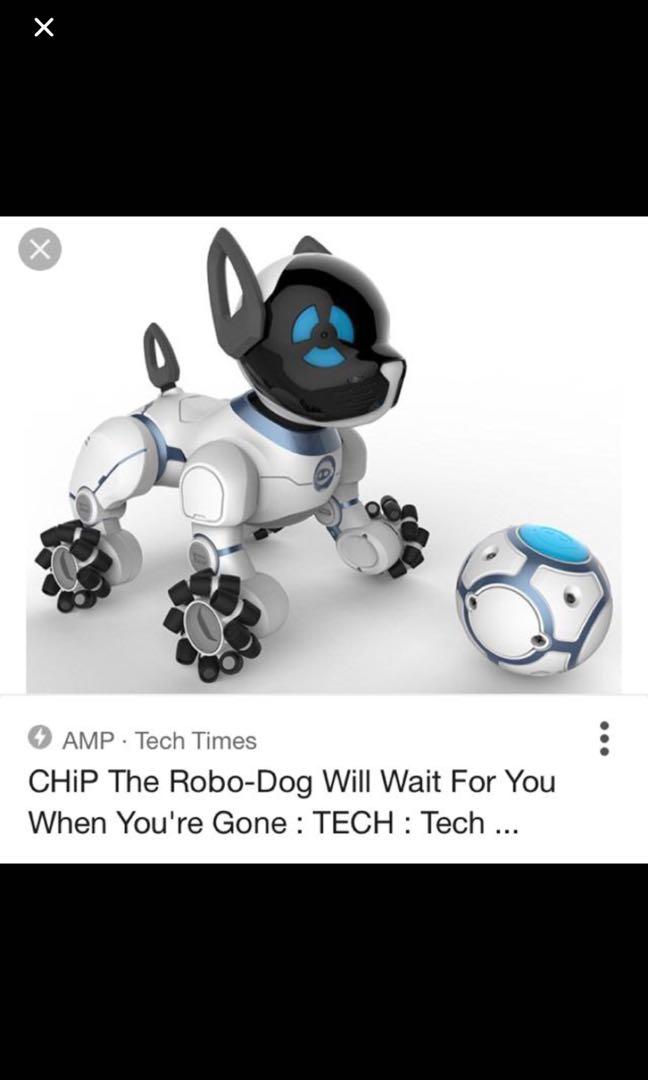 Wowwee chip robot dog, Toys & Games, Bricks & Figurines on
