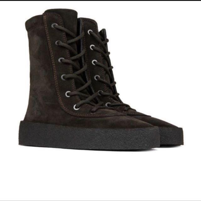 5c12533af Yeezy Season 4 Crepe Oil Boots